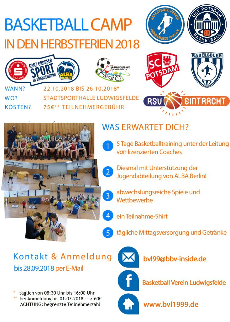 BVL Flyer Herbstcamp 2018